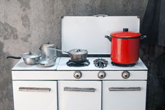 Old gas stove Stock Images