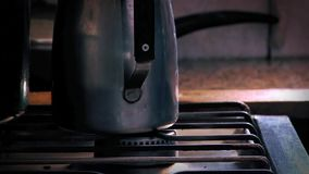 Old Gas Stove stock footage