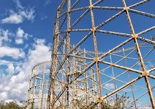 Old Gas Towers Royalty Free Stock Photography