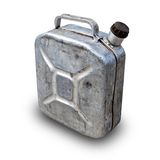 Old gasoline jerry can above concrete background Stock Photo