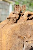 Old gasoline jerry can Stock Images