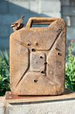Old gasoline jerry can Royalty Free Stock Photos