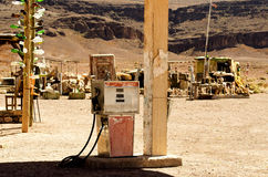 Old gasoline pump. From horrorfilm hills have eyes Stock Photography