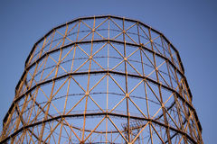 Old gasometer in Rome Stock Image