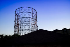 Old gasometer in Rome Royalty Free Stock Photo