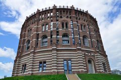 Old gasometer in Vienna, Austria Stock Photography