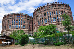 Old gasometers in Vienna, Austria Royalty Free Stock Photo