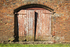 Old gate. An old gate in the barn royalty free stock photos