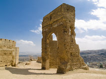 Old gate. On the hill in background fez city, Morocco Stock Image