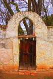 Old gate and arch at Mission San Miguel Arcangel. San Luis Obispo county, California Royalty Free Stock Photos