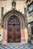 Old gate in baroque style in Prague Stock Photos