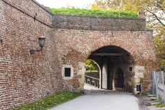 The old gate of the Belgrade fortress. Serbia royalty free stock photo