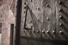 Old gate bells, Rome, Italy Stock Photo