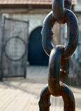 Old gate chain Royalty Free Stock Photos
