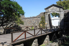 Old Gate in colonial town of Colonia del Sacramento Royalty Free Stock Images
