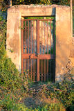Old gate entrance. Old garden gate entrance open Royalty Free Stock Images
