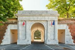 Old gate - the entrance to the center of Lucca Royalty Free Stock Images