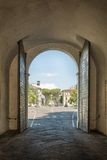 Old gate - exit from the historic center of Lucca Royalty Free Stock Photo