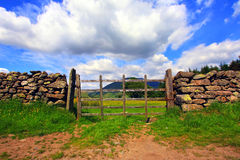 An old gate in the fields, Lake District Stock Image