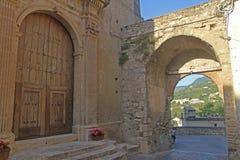 In fiumefreddo. The old gate of fiumefreddo del bruzio in italy royalty free stock images