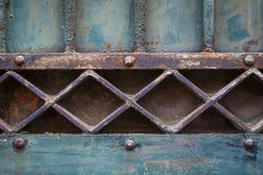 Old gate geometric detail Stock Photography
