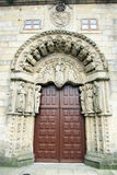 Compostela gate. A old gate in a historic building at santiago de compostela in spain Royalty Free Stock Images