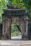 Old gate in Imperial Minh Mang Tomb in  Hue Stock Photo