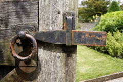 Old gate latch Royalty Free Stock Photos