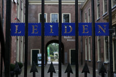 Old gate with Leiden sign Stock Image