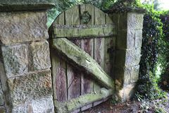 Old Gate. This gate is located within the grounds of our property and is the entrance to an old orchard Stock Photos