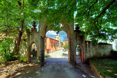 Old Gate. Novello, Northern Italy. Stock Images