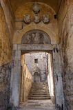 Old gate at the Old Town in Dubrovnik Stock Photo