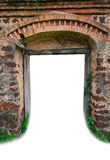 Old  gate. Ole house and Old  gate Royalty Free Stock Photography