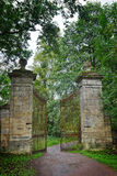 Old gate in the palace park in Gatchina Stock Photos