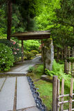 Zen Garden and Portland Japanese Garden Royalty Free Stock Image