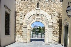 Old gate , Rethymnon town. Crete island Stock Image