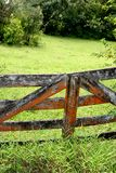 Old Gate on the Road to Hana. An aged, weather beaten old gate that's easy to miss on the Road to Hana, Maui Stock Image