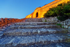 Old gate and stairs at Belgrade fortress Royalty Free Stock Photography