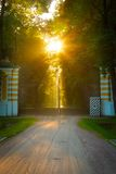 Old gate at sunset Royalty Free Stock Photos