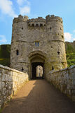 Old Gate to Carisbrooke Castle in Newport, Isle of Wight, England Stock Image
