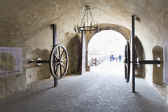 Old gate - tourist entering Royalty Free Stock Photography