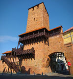 Old gate tower Stock Images