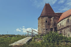 Old Gate Tower, Corvin Castle, Romania Royalty Free Stock Image