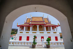 Old gate at Wat Kanlayanamit Royalty Free Stock Photos