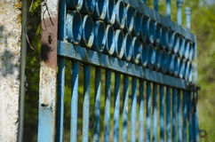 Old  gates on the abandoned territory Royalty Free Stock Images