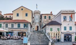 Free Old Gates Of The City And The Sakhat Kula Tower With The Clock Stock Photography - 129817252