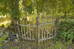 Old gateway of the cemetary Royalty Free Stock Photography