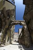 Old Gateway or Roman Arch in Rijeka,Croatia. Old Gateway or Roman Arch,main entrance to the ancient city stock images