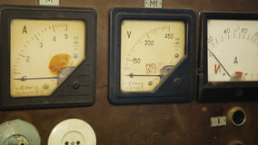 Old gauges isolated stock video
