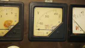 Old gauges isolated stock video footage
